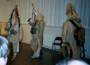The Armagh Rhymers perform for conference delegates at the Verbal Arts Centre, Derry.