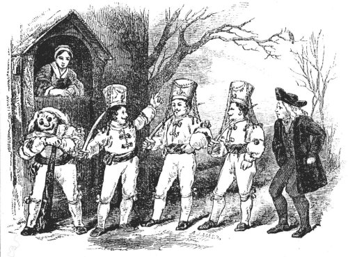 Illustration of Mummers from W.Sandys (1852)